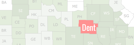 Dent County Map