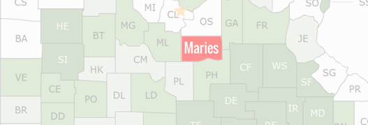 Maries County Map