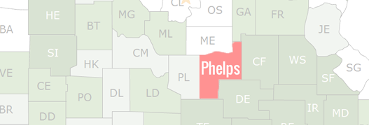 Phelps County Map