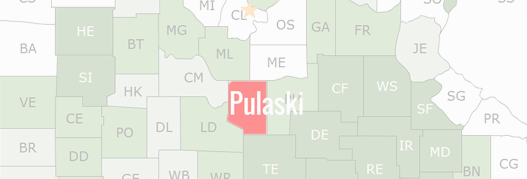 Pulaski County Map